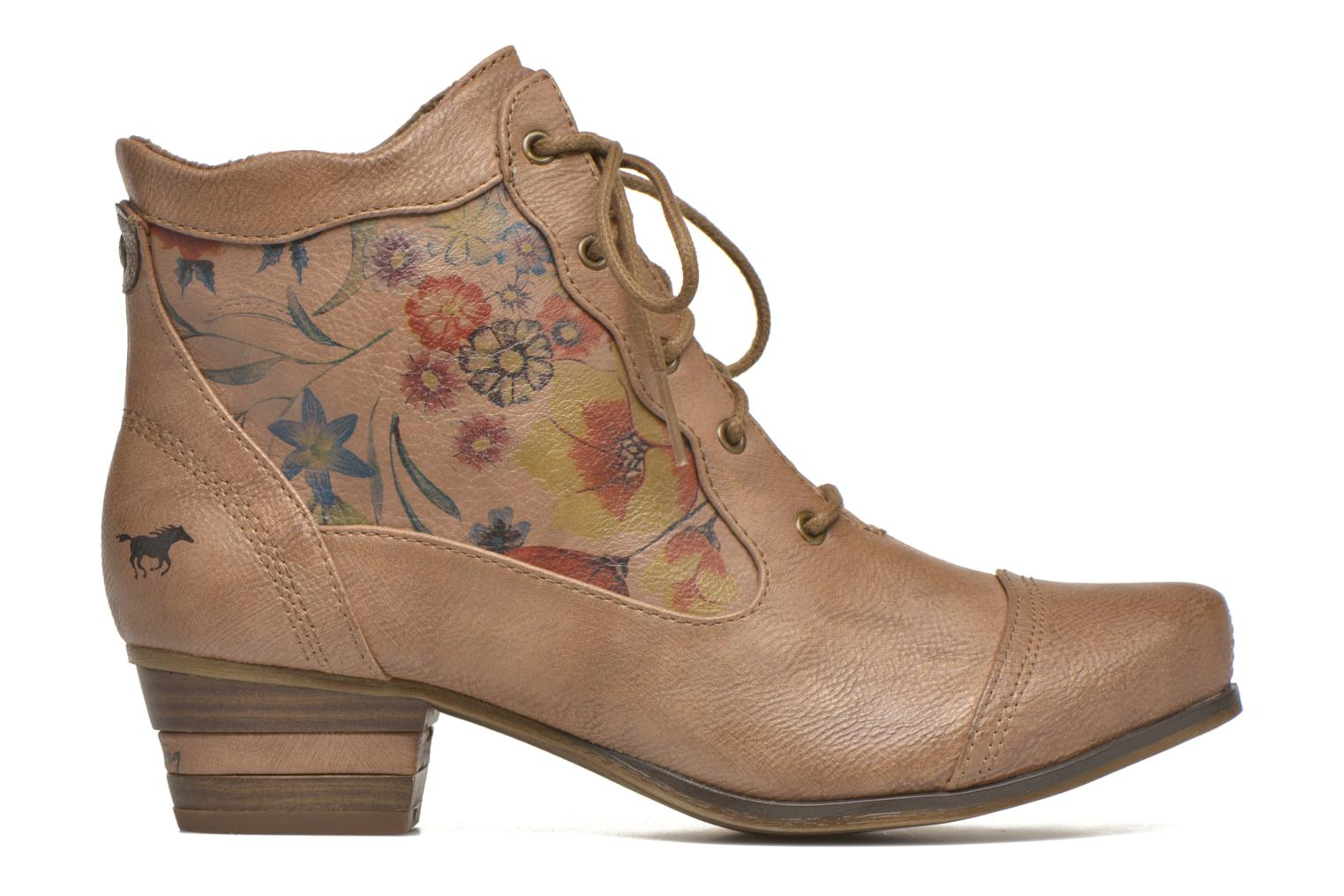 Ankle boots Mustang shoes Manur Brown back view