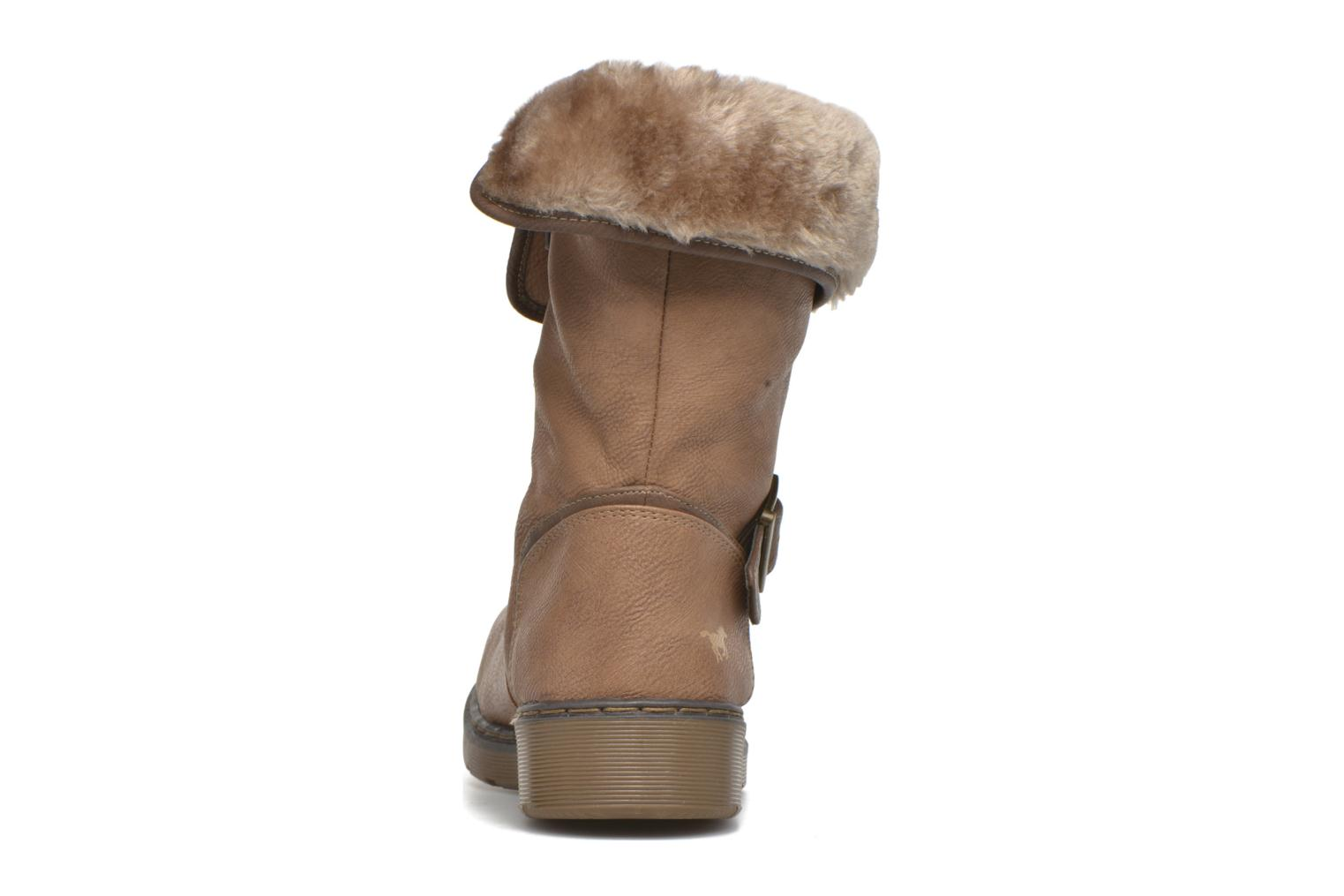 Ankle boots Mustang shoes Munat Brown view from the right