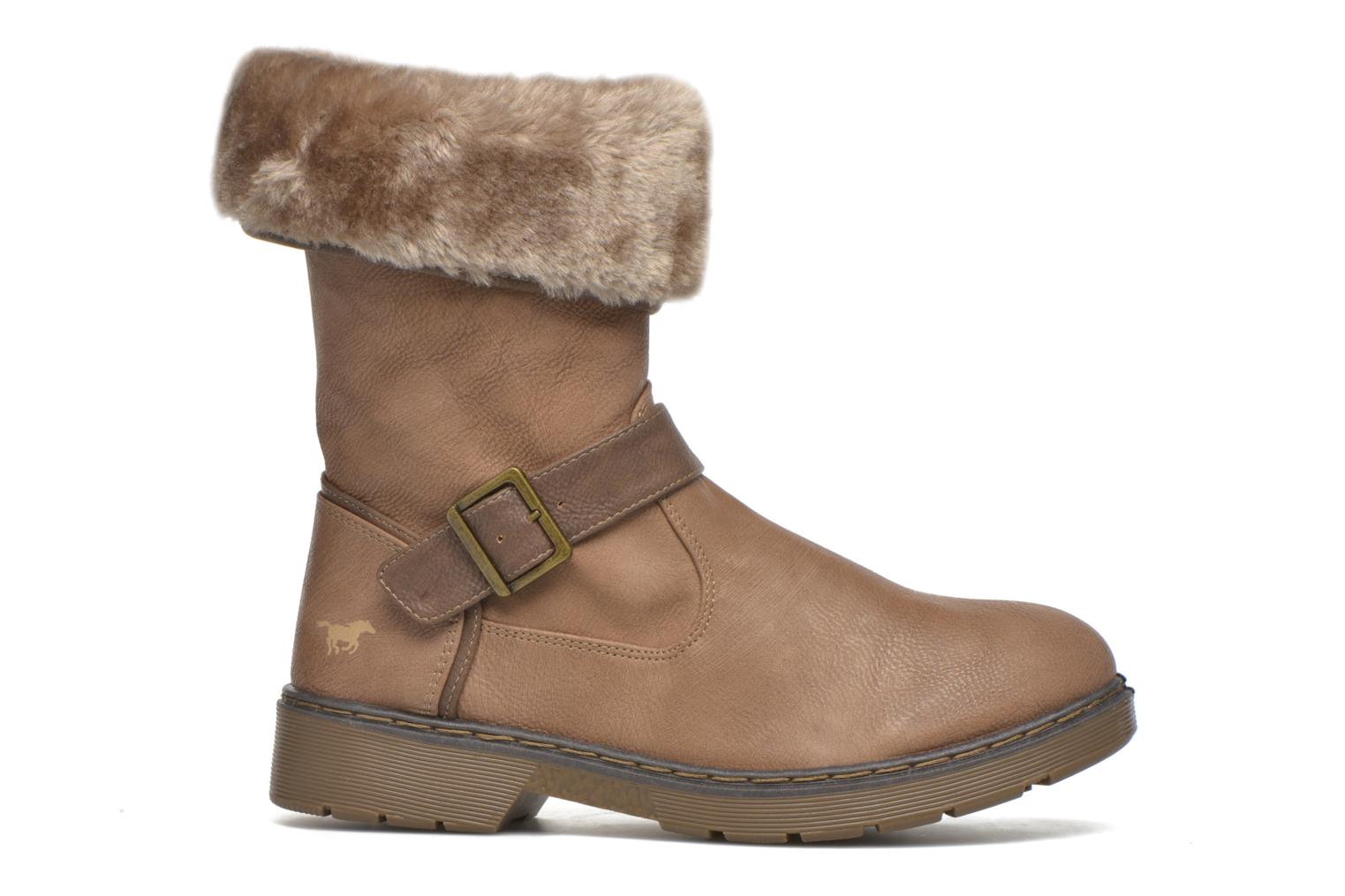 Ankle boots Mustang shoes Munat Brown back view