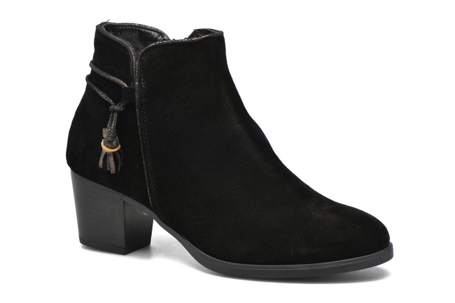 Ankle boots André Mistinguette Black detailed view/ Pair view
