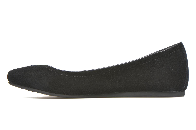 Ballet pumps Crocs Crocs Lina Suede Flat Black front view