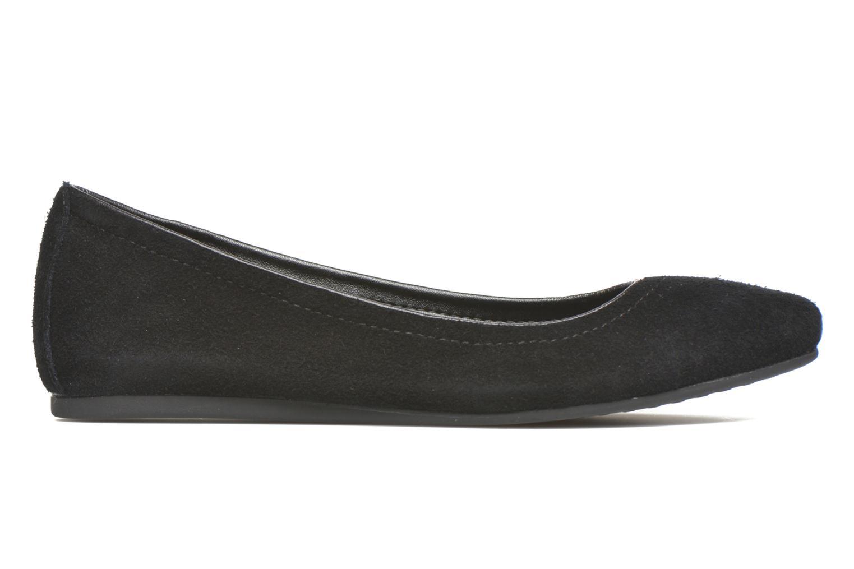 Ballet pumps Crocs Crocs Lina Suede Flat Black back view