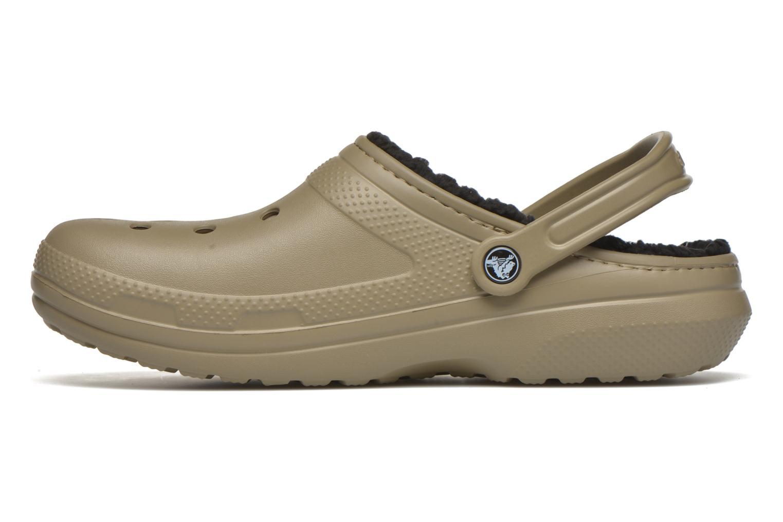 Sandales et nu-pieds Crocs Classic Lined Pattern clog Vert vue face