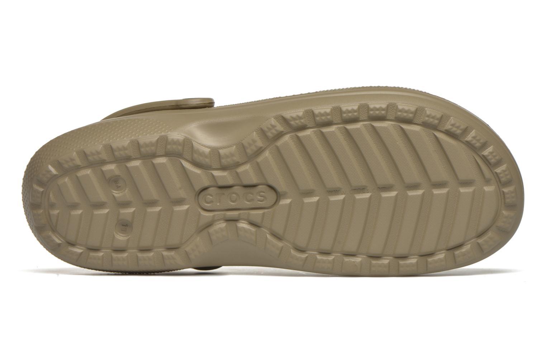 Sandales et nu-pieds Crocs Classic Lined Pattern clog Vert vue haut