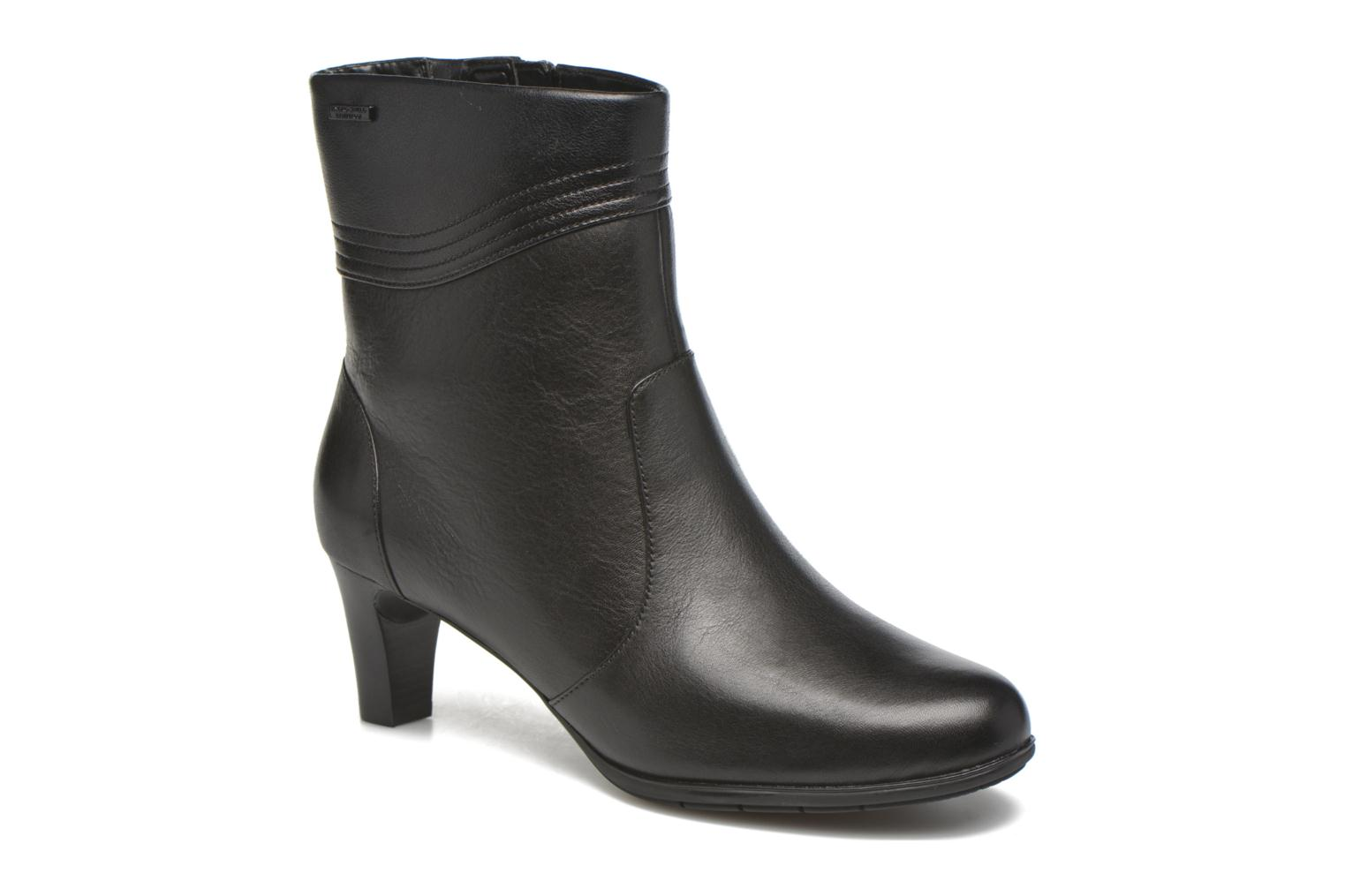 Melora Wave Bootie Black leather