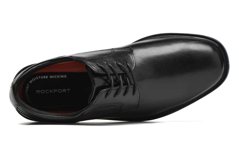 Zapatos con cordones Rockport Esntial Dtl II Plain Toe Negro vista lateral izquierda