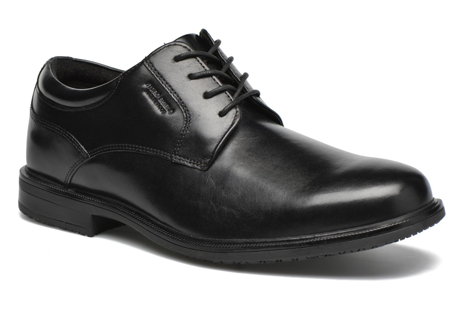 Lace-up shoes Rockport Esntial Dtl II Plain Toe Black detailed view/ Pair view