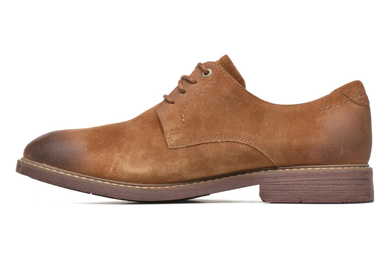 Chaussures à lacets Rockport Classic Break Plain Toe Marron vue face