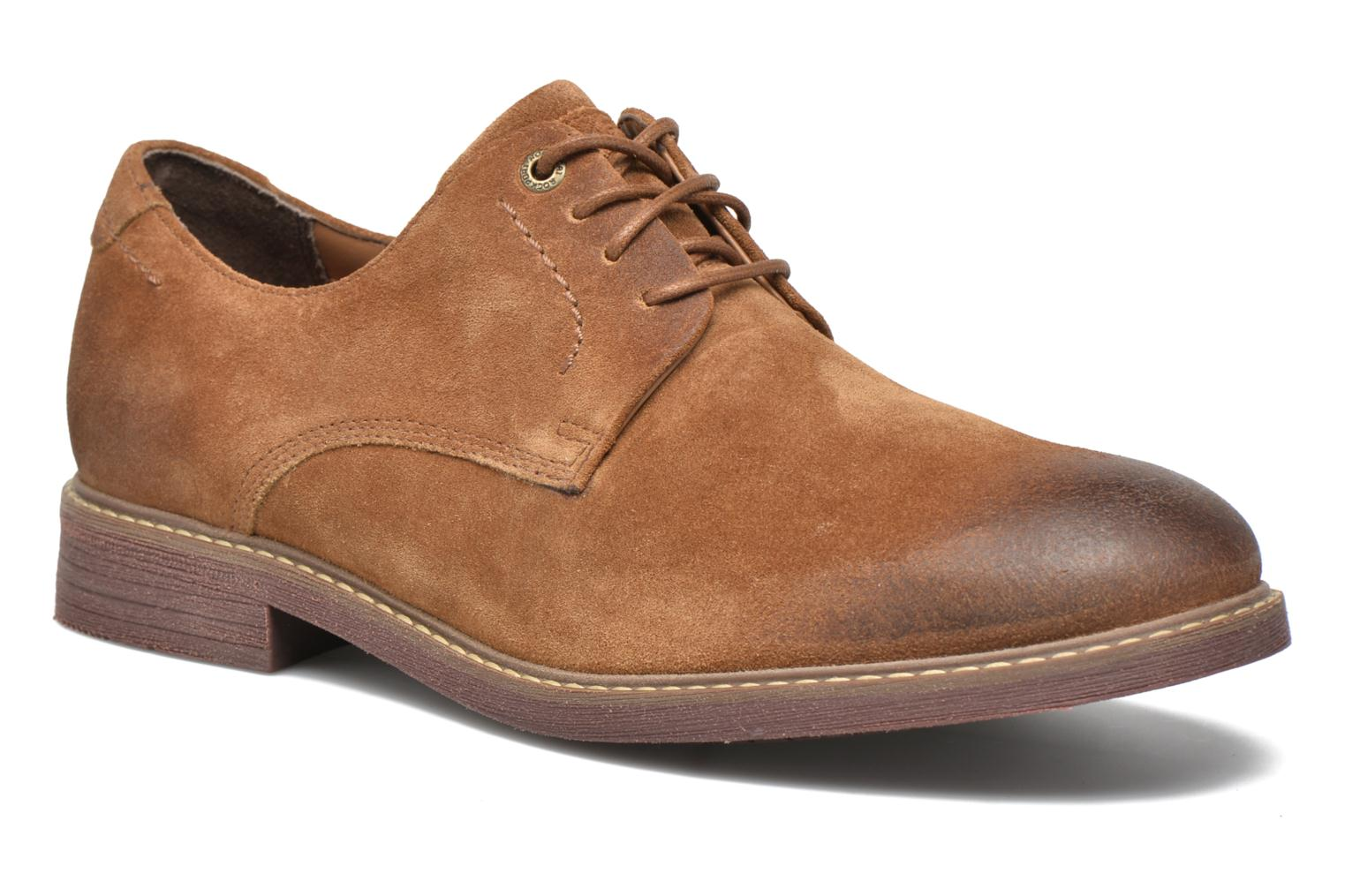Classic Break Plain Toe Cognac suede