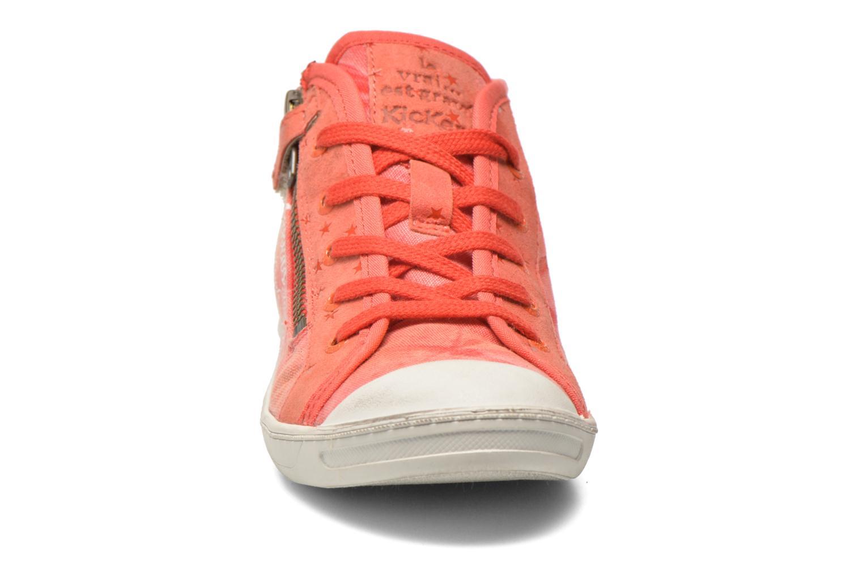 Baskets Kickers Karola -2 Rose vue portées chaussures