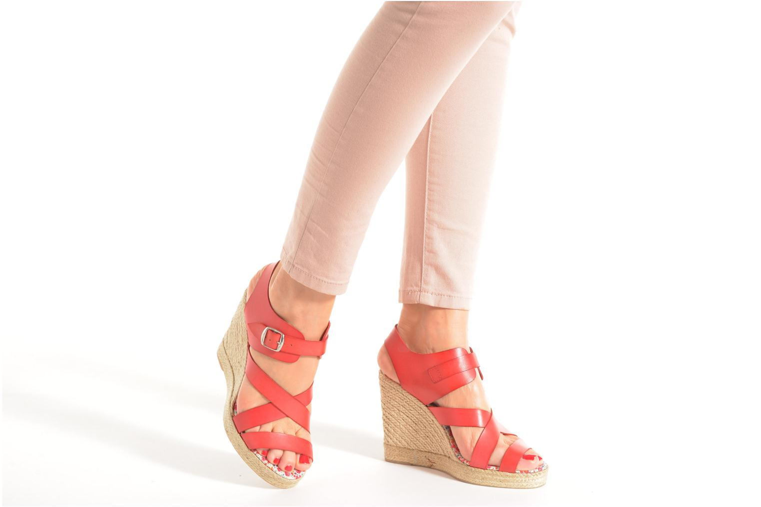 Sandals Pare Gabia Othello Red view from underneath / model view