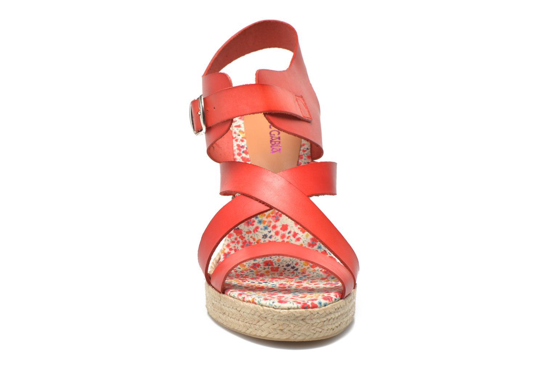 Sandalen Pare Gabia Othello rot schuhe getragen