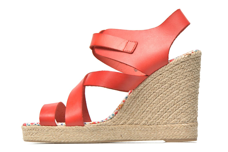 Sandalen Pare Gabia Othello rot ansicht von vorne
