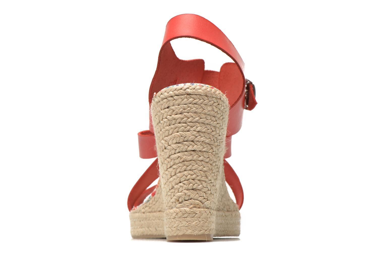 Sandalen Pare Gabia Othello rot ansicht von rechts