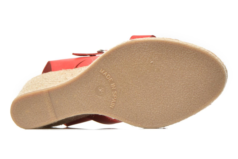 Sandalen Pare Gabia Othello rot ansicht von oben