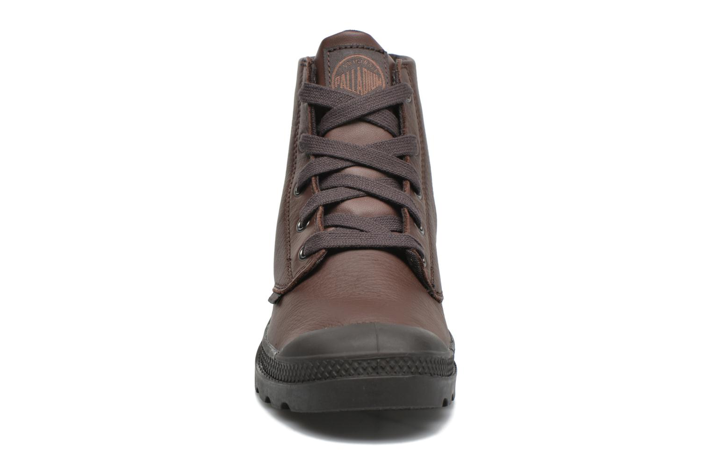 Bottines et boots Palladium Pampa Hi VL F Marron vue portées chaussures