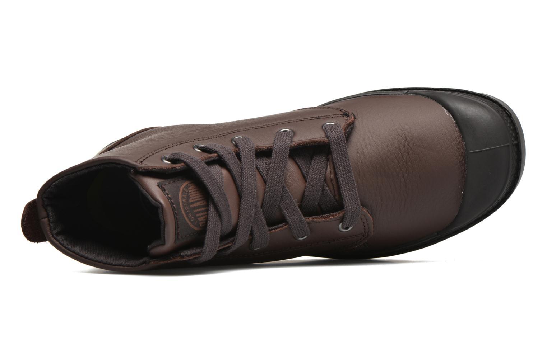 Bottines et boots Palladium Pampa Hi VL F Marron vue gauche