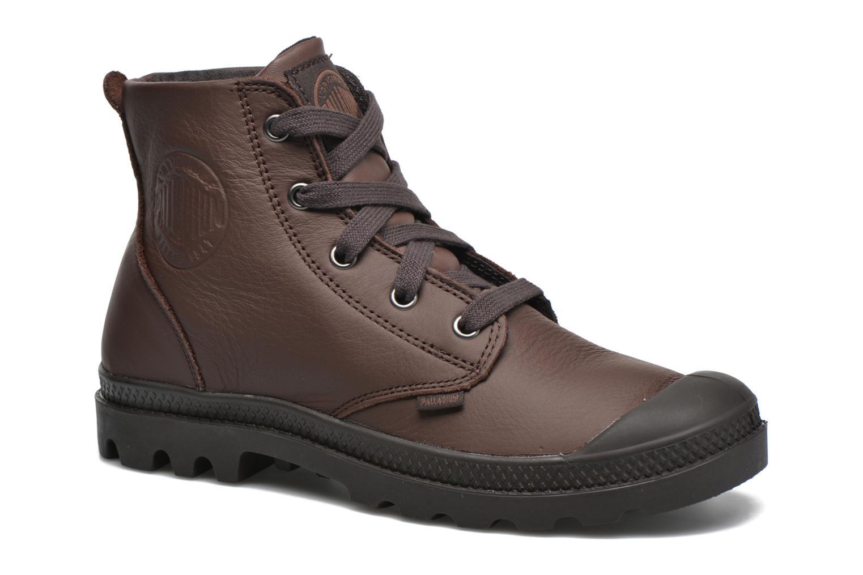 Bottines et boots Palladium Pampa Hi VL F Marron vue détail/paire