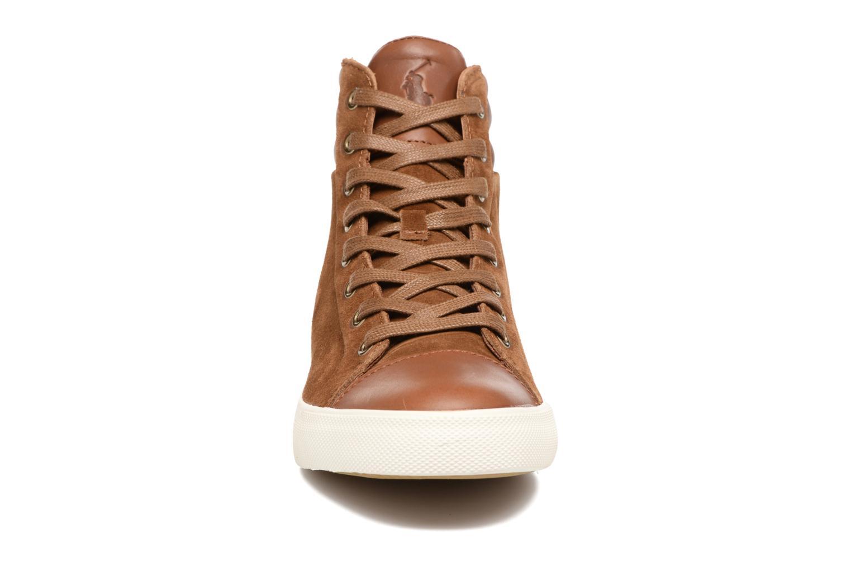 Baskets Polo Ralph Lauren GEFFRON Marron vue portées chaussures