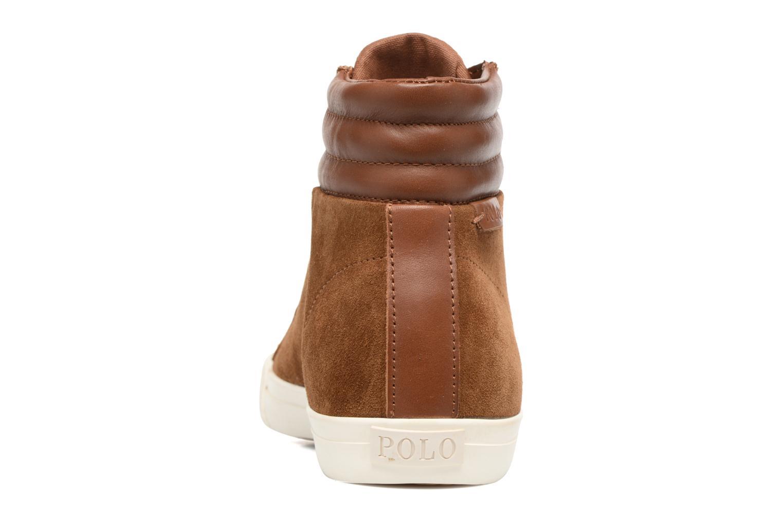 Sneaker Polo Ralph Lauren GEFFRON braun ansicht von rechts