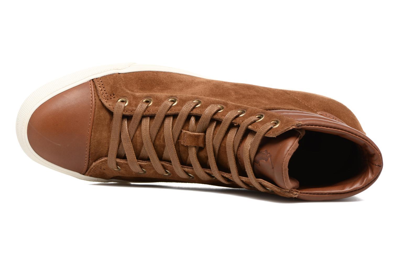 Sneaker Polo Ralph Lauren GEFFRON braun ansicht von links