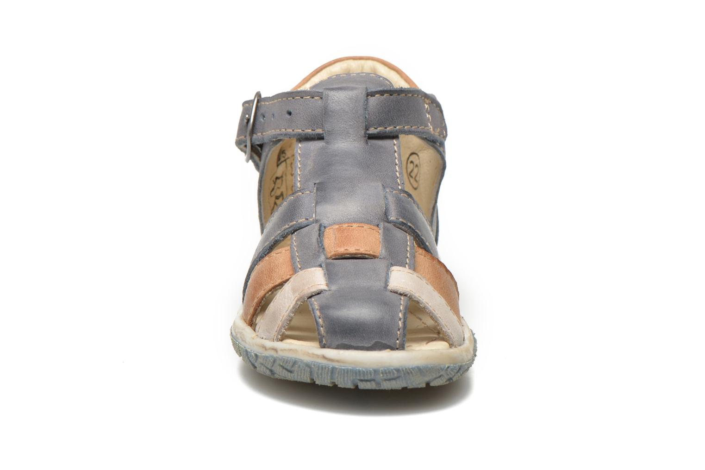 Sandales et nu-pieds Noël Mini Taro Bleu vue portées chaussures