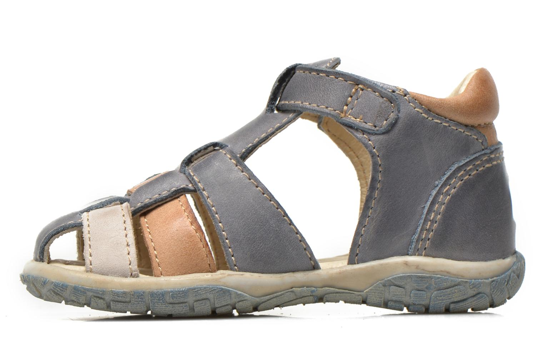 Sandales et nu-pieds Noël Mini Taro Bleu vue face