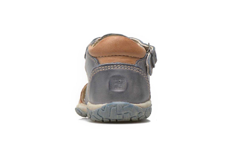 Sandales et nu-pieds Noël Mini Taro Bleu vue droite
