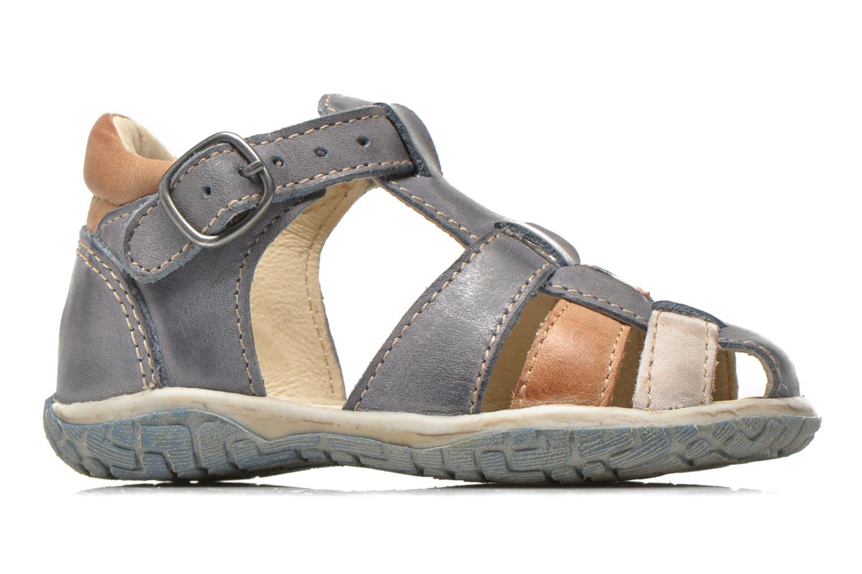Sandales et nu-pieds Noël Mini Taro Bleu vue derrière