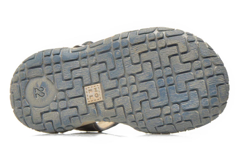 Sandales et nu-pieds Noël Mini Taro Bleu vue haut