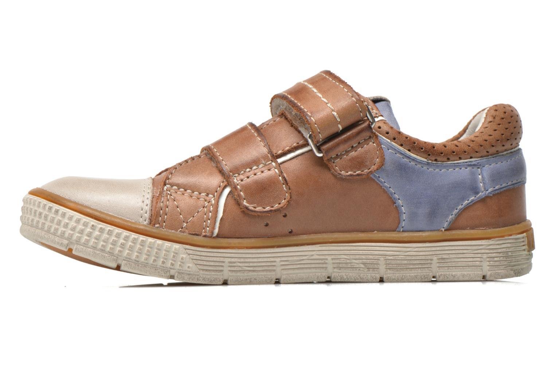 Chaussures à scratch Noël Vazy Marron vue face