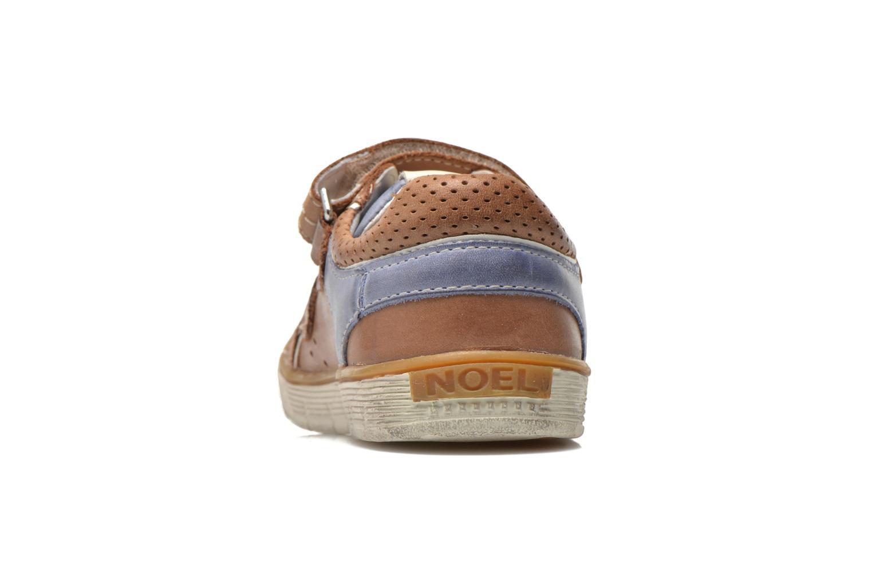 Chaussures à scratch Noël Vazy Marron vue droite