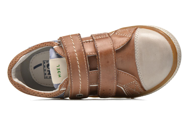 Chaussures à scratch Noël Vazy Marron vue gauche