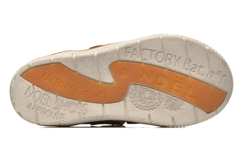 Chaussures à scratch Noël Vazy Marron vue haut