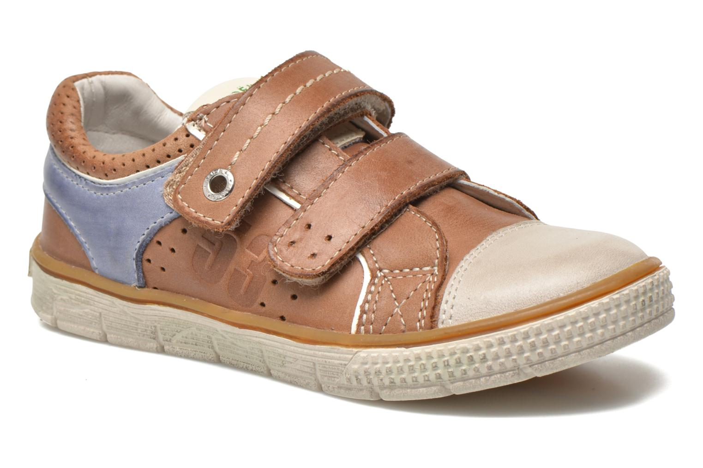 Chaussures à scratch Noël Vazy Marron vue détail/paire