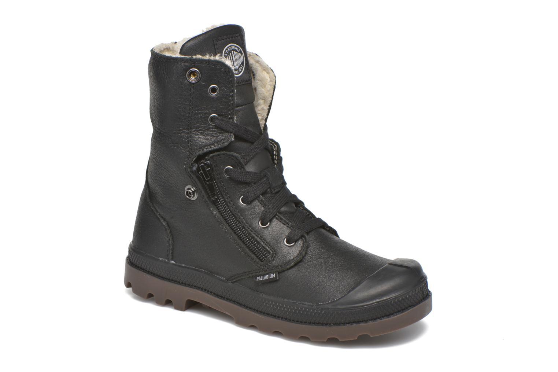 Ankle boots Palladium BGY L ZIP FS K Black 3/4 view