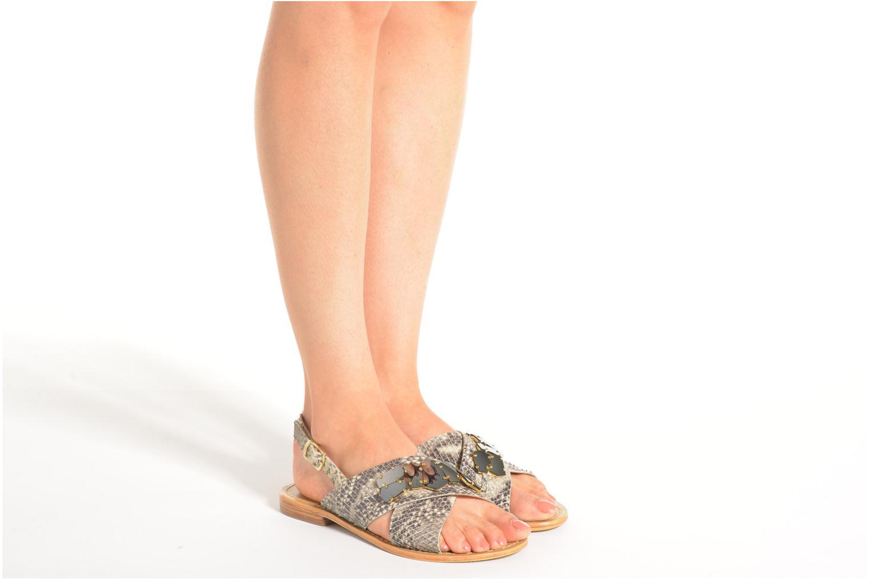 Sandales et nu-pieds Elizabeth Stuart Halias/SM 889 Beige vue bas / vue portée sac
