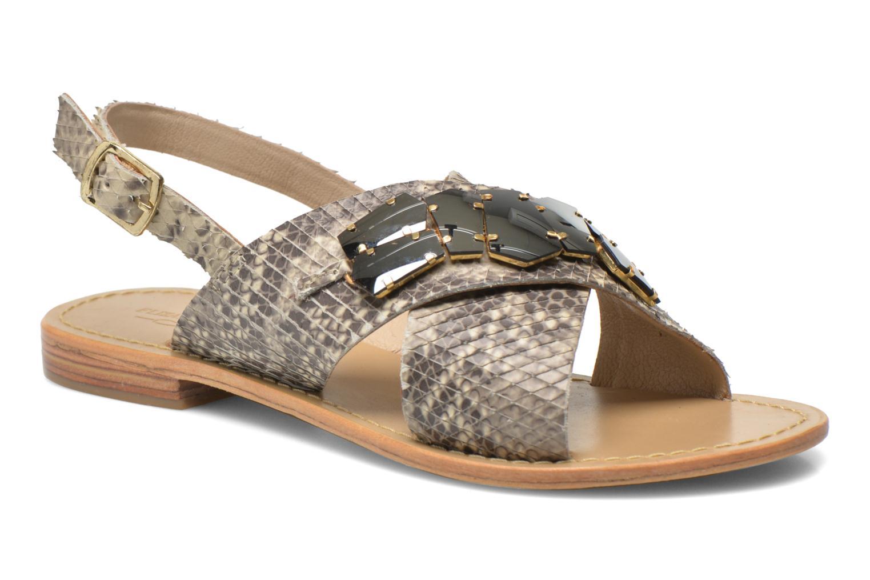 Sandales et nu-pieds Elizabeth Stuart Halias/SM 889 Beige vue détail/paire
