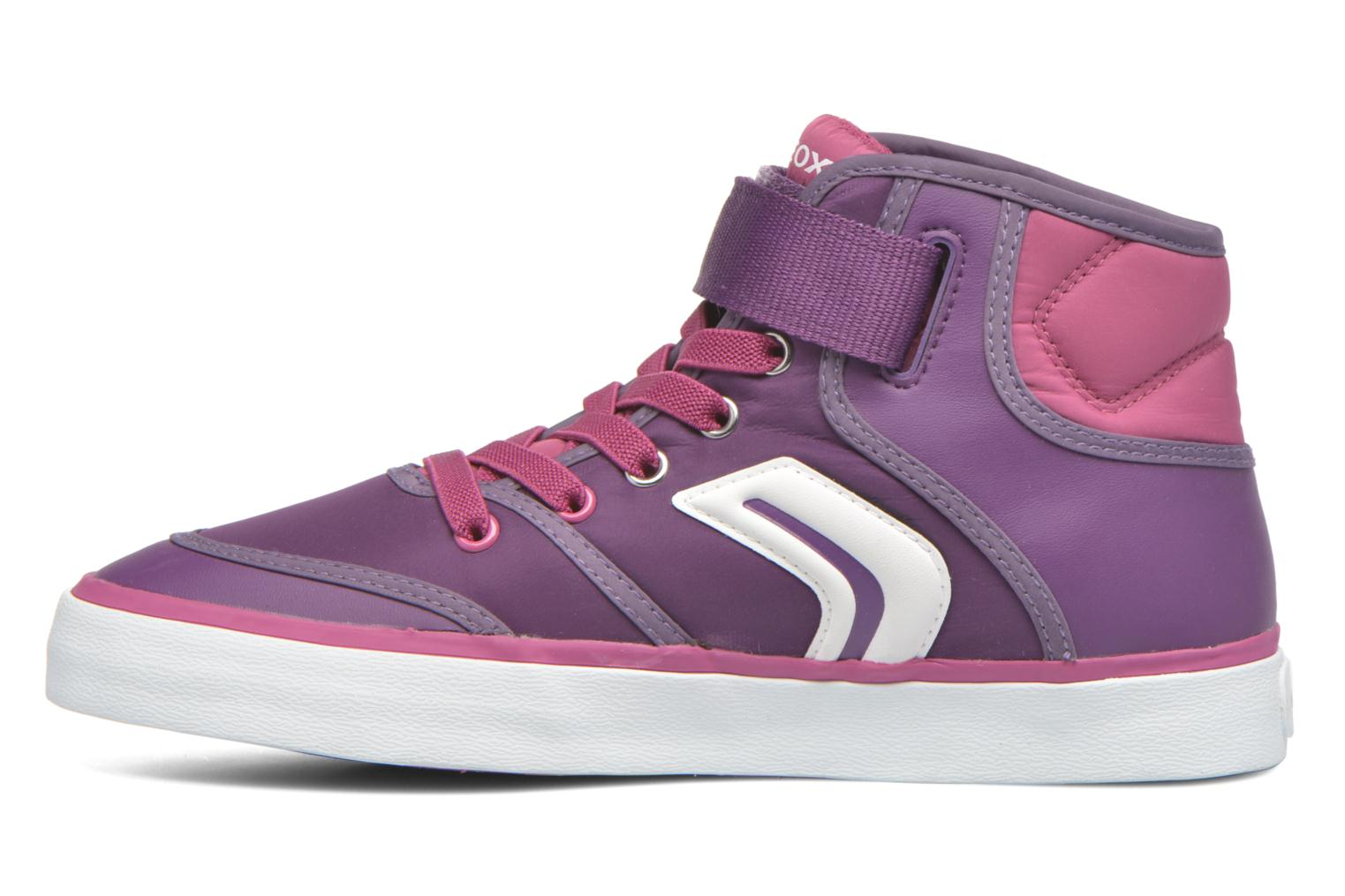 Baskets Geox JR Ciak Girl J5404A0 Violet vue face
