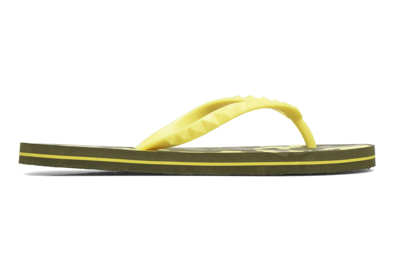 Zehensandalen Gioseppo Frappe gelb ansicht von hinten