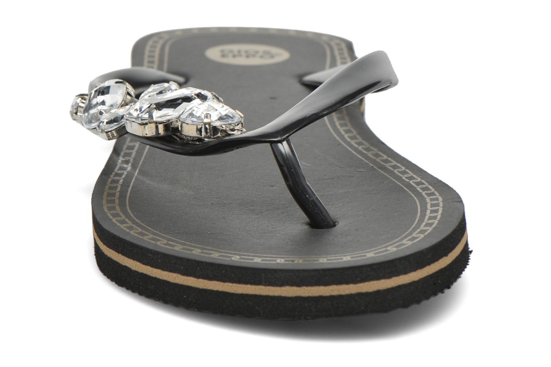 Tongs Gioseppo Marjana Noir vue portées chaussures