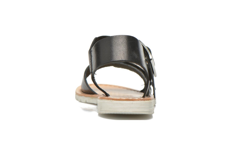 Sandales et nu-pieds Gioseppo Karina Noir vue droite