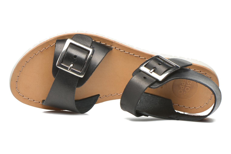 Sandales et nu-pieds Gioseppo Karina Noir vue gauche