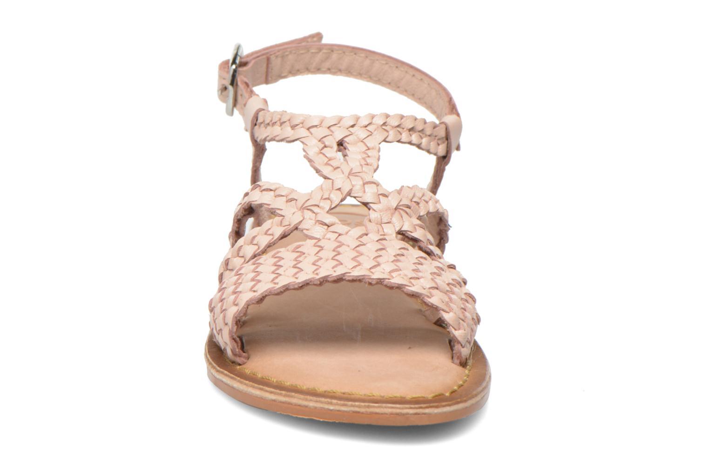 Sandales et nu-pieds Gioseppo Jacinthe Rose vue portées chaussures