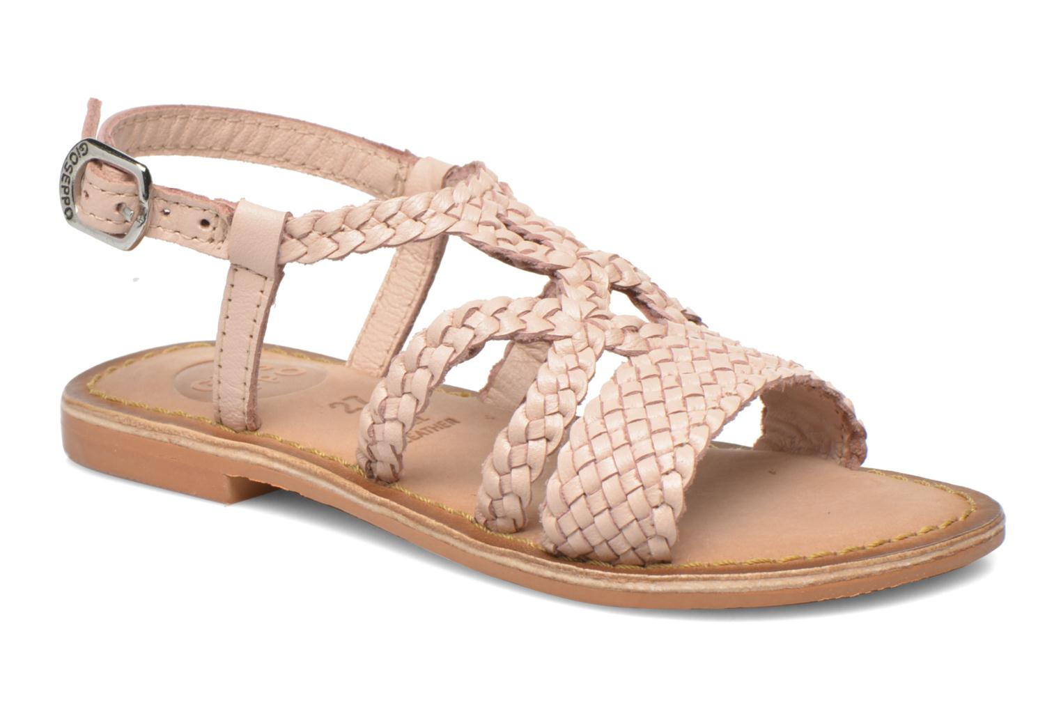 Sandals Gioseppo Jacinthe Pink detailed view/ Pair view