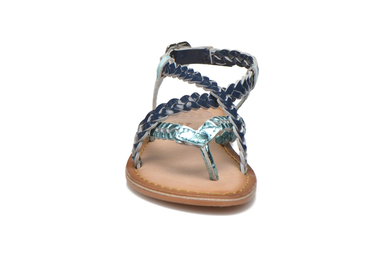 Sandales et nu-pieds Gioseppo Orchidee Bleu vue portées chaussures