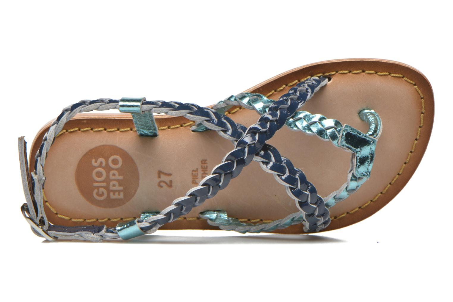 Sandals Gioseppo Orchidee Blue view from the left