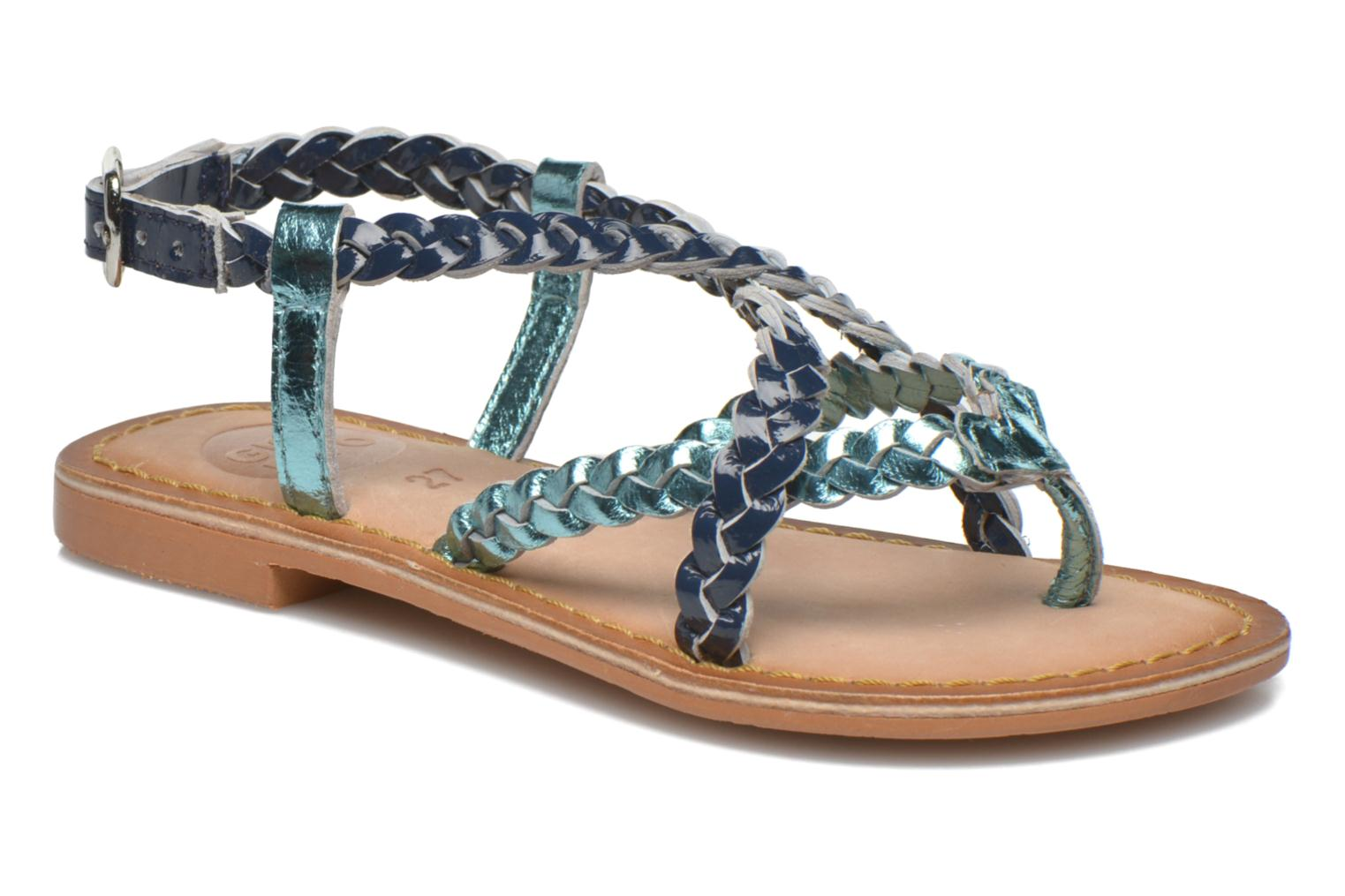 Sandals Gioseppo Orchidee Blue detailed view/ Pair view