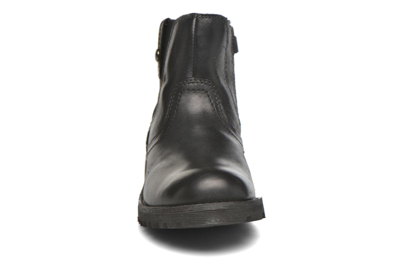 Bottines et boots Geox JR Axel Boy J5486A Noir vue portées chaussures