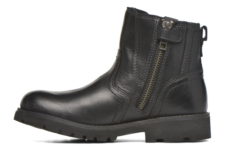 Bottines et boots Geox JR Axel Boy J5486A Noir vue face